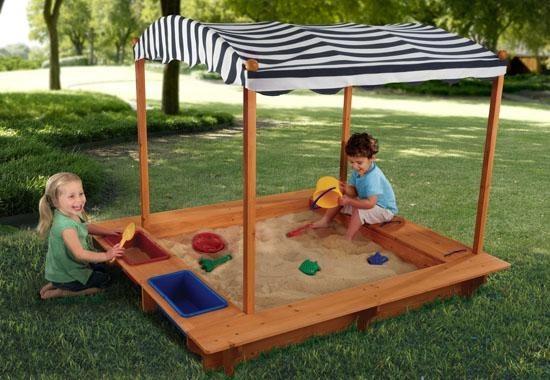 children-outdoor-sandbox-canopy-wood