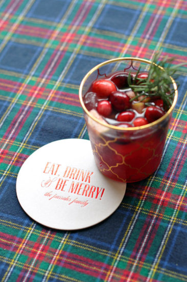 Personalized Cups & Coasters For Holiday Parties