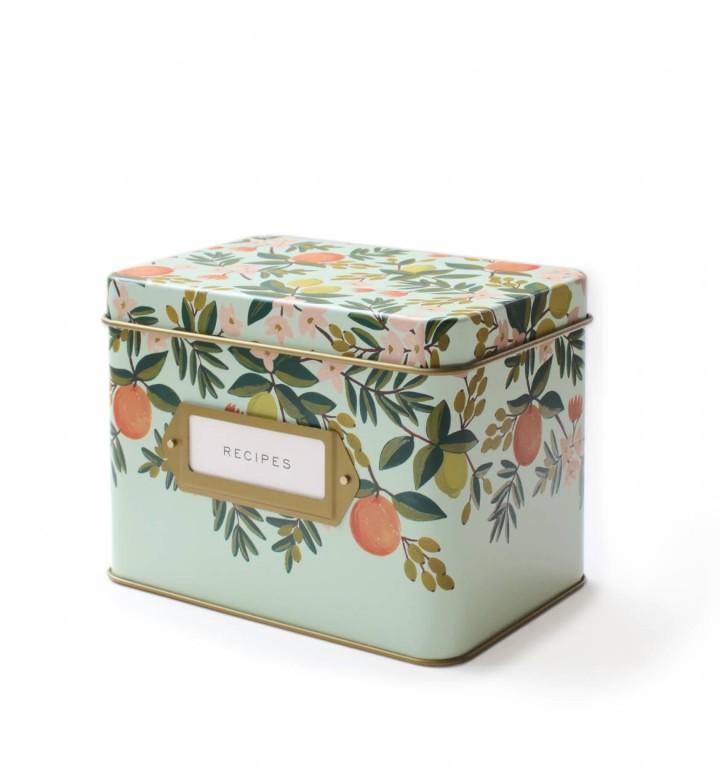 citrus-floral-kitchen-recipe-box-1