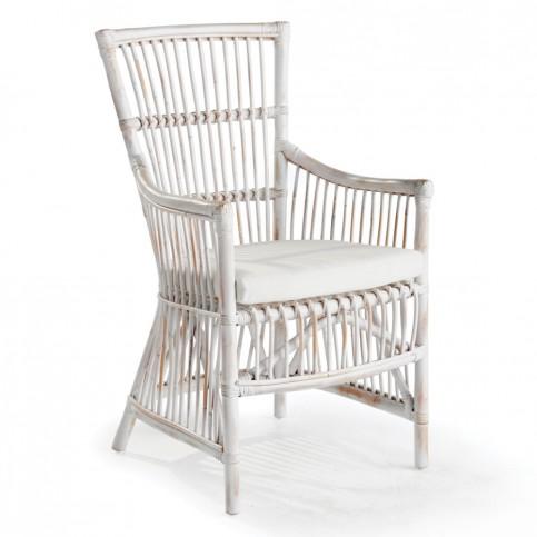 distressed_white_rattan_armchair