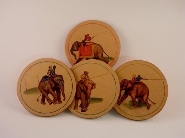 elephant_polo_leather_coaster_set