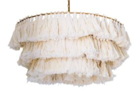 Blog Giveaway: Selamat Designs Fela Tassel Chandelier in White!