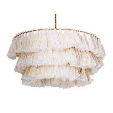 Blog Giveaway: Selamat Designs Fela Tassel Chandelier in White!