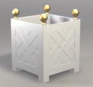 garden tree box white