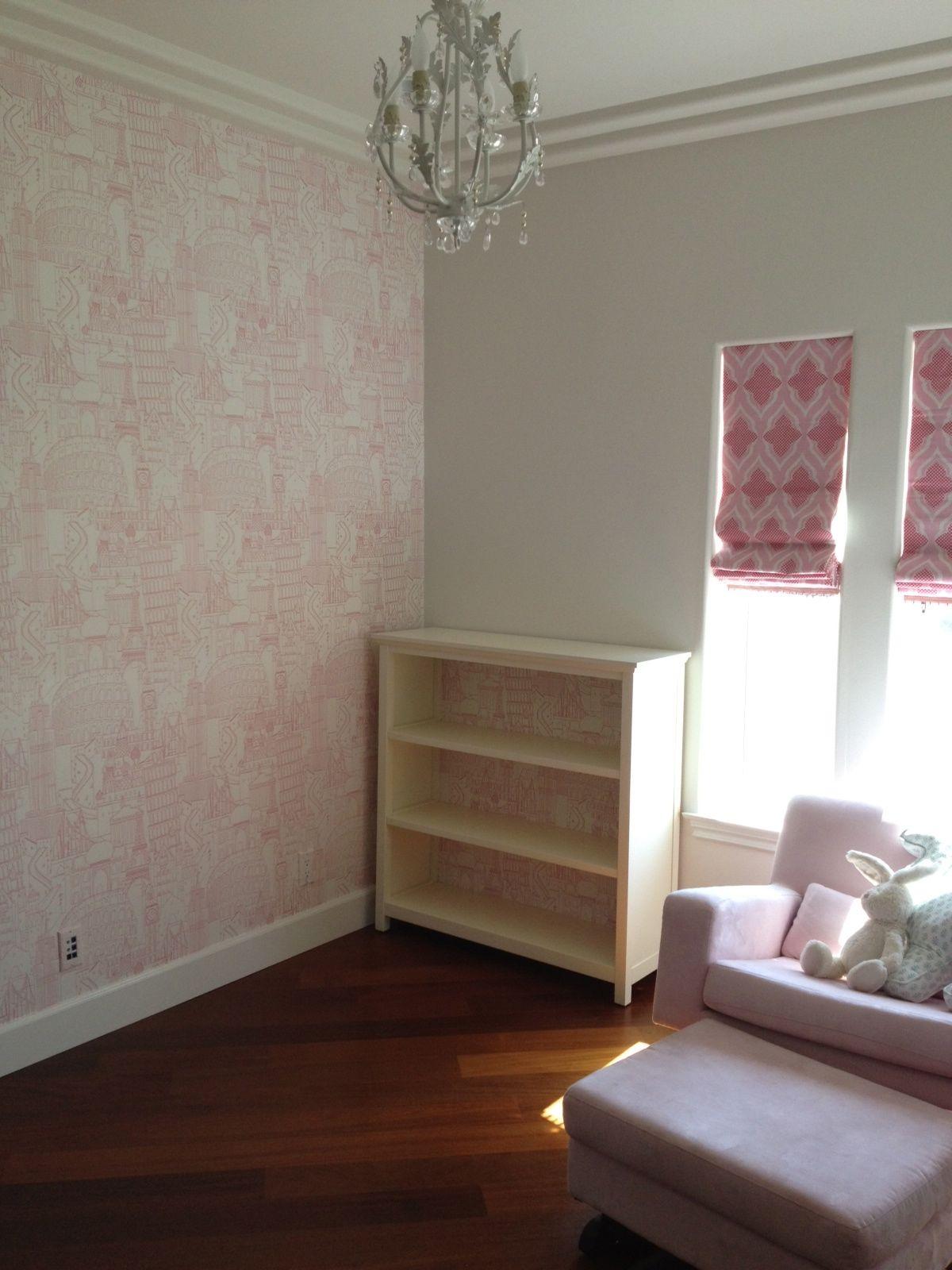 Globetrotter Clarke And Wallpaper Pink Nurserynotations