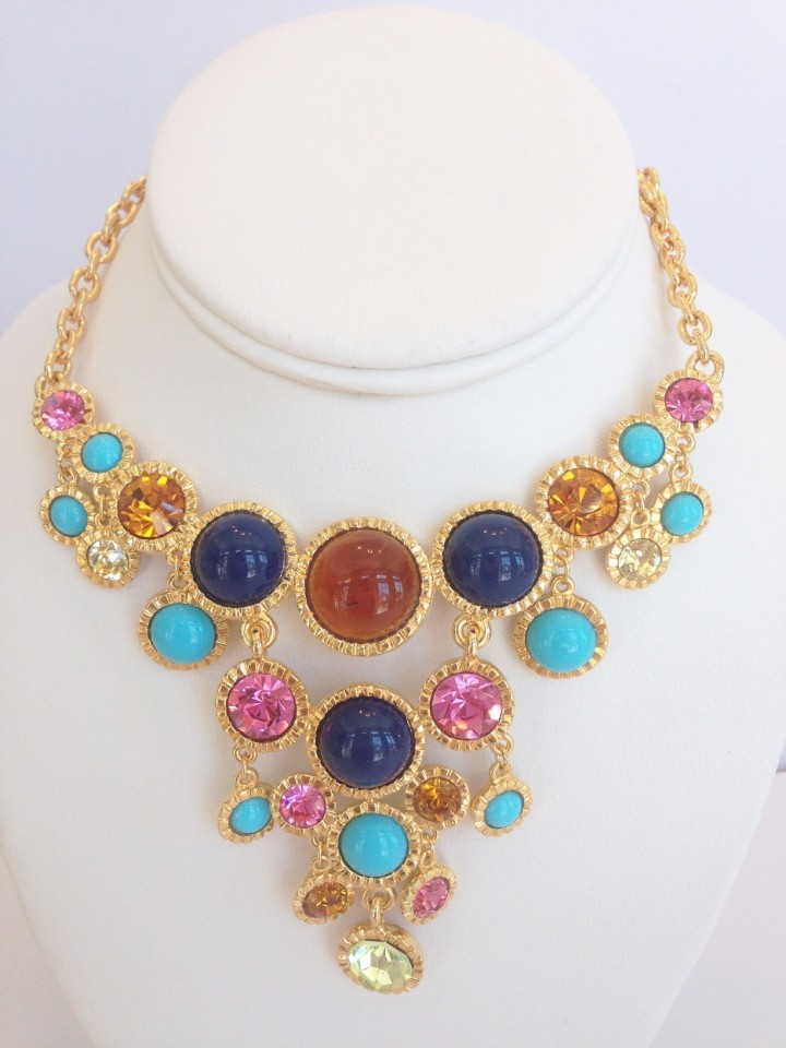 gold_flawed_topaz_turquoise_lapis_multi_pastel_bib_necklace