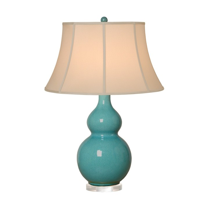 gourd_vase_lamp_in_turquoise_with_tan_shade