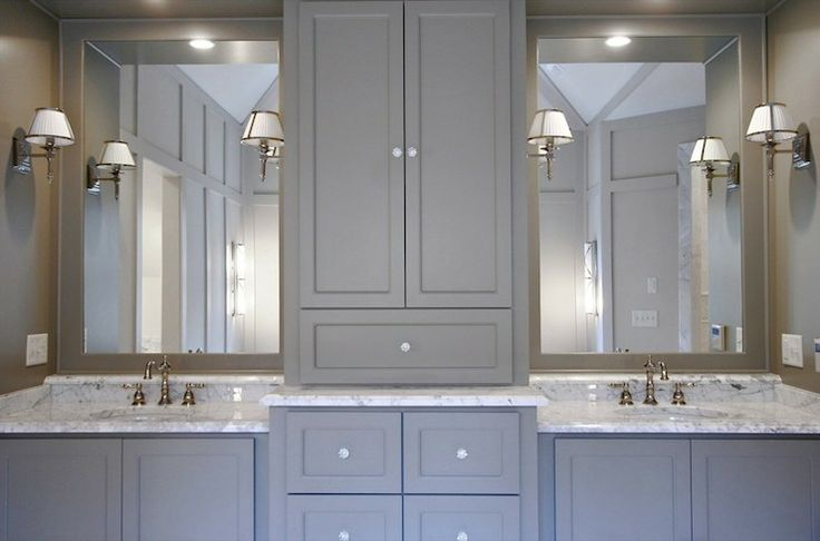 Home decor trend gray in the kitchen and bathroom the for Grey bathroom cupboard