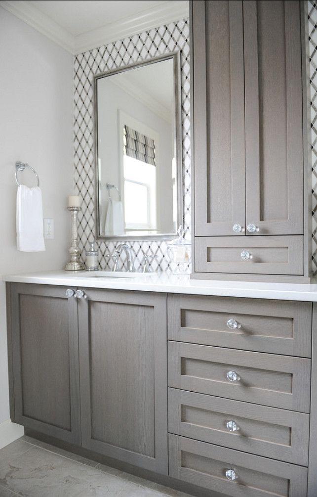 grey cabinets bathroom