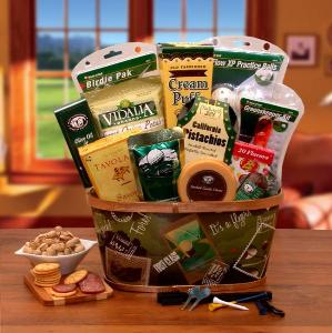 hole in one gift basket for dad