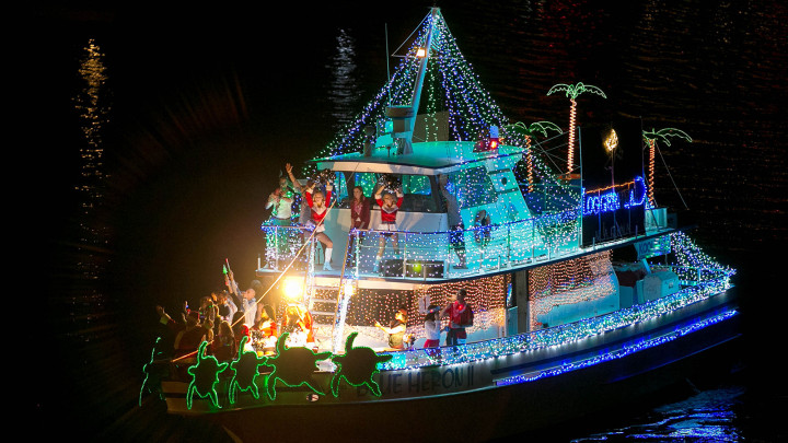 The 20th Annual Palm Beach Holiday Boat Parade on December 6, 2014. (Allen Eyestone / The Palm Beach Post)