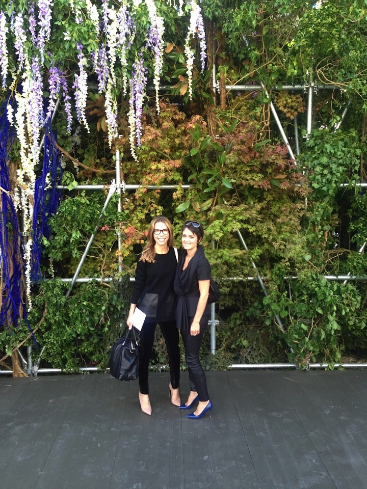 Carina Crain and Wendy Reyes at Dior Paris Fashion Show September 2013