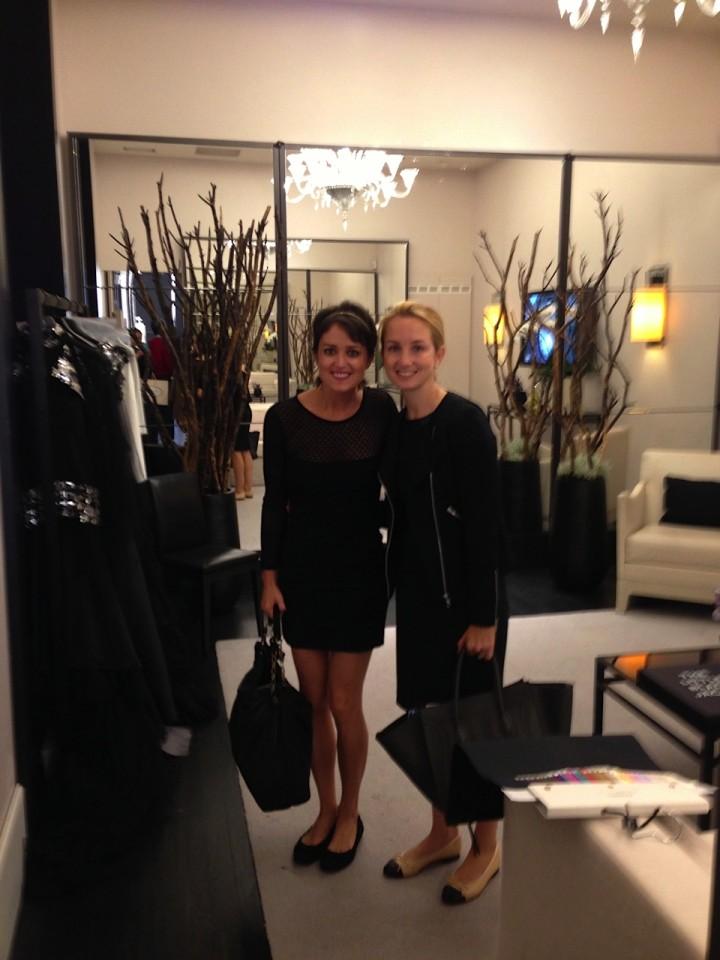 Wendy Stapleton Reyes and Nancy Fazzinga at Chanel Paris