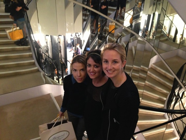 Carina Crain, Wendy Stapleton Reyes and Nancy Fazzinga at Chanel Paris