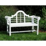 Blog Giveaway – Lacquer Lutyen Outdoor Wooden Bench in White!