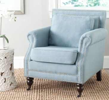 Blog Giveaway! Light Blue Club Chair with Nail Head Trim! Enter to Win!