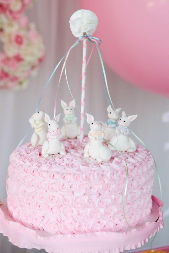 party wagon bunny cake