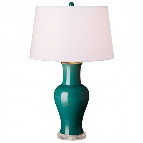 peacock_green_porcelain_lamp_with_shade_1