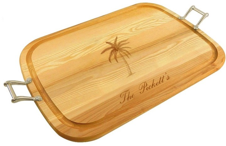 personalized_large_wooden_handled_traycutting_board_with_palm_tree_design