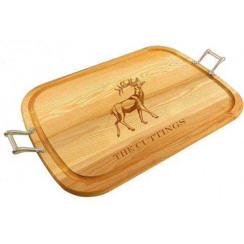 personalized_large_wooden_handled_traycutting_board_with_stag_design