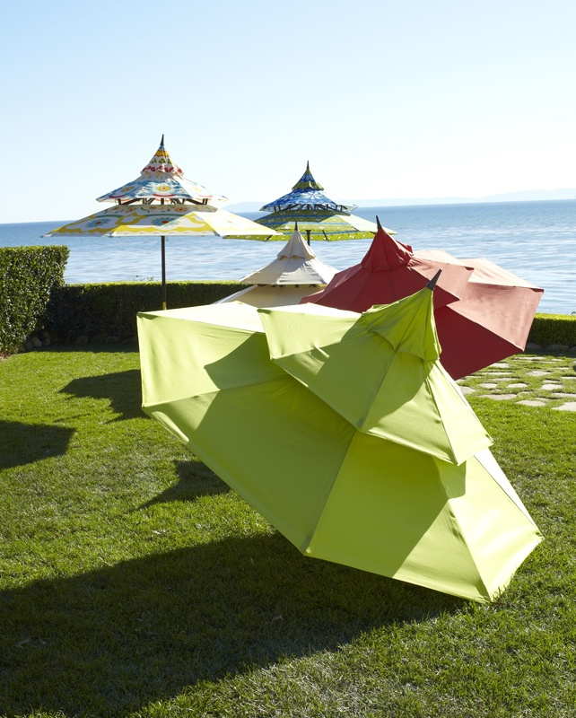 Check out these super fun patio umbrellas from PIER 1! Click image