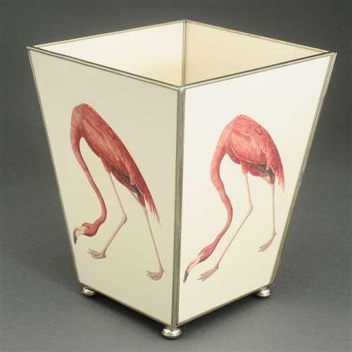 pink_flamingo_metal_wastebasket