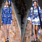 Sapphire Blue at Valentino: Fall 2013 RTW – Taking Inspiration from Delft