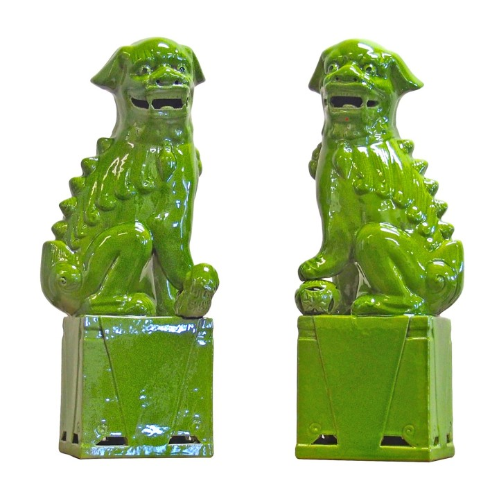 sitting-foo-dogs-pair-lime-green-porcelain