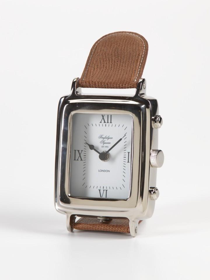 trafalgar-square-rectangular-clock-with-leather-band