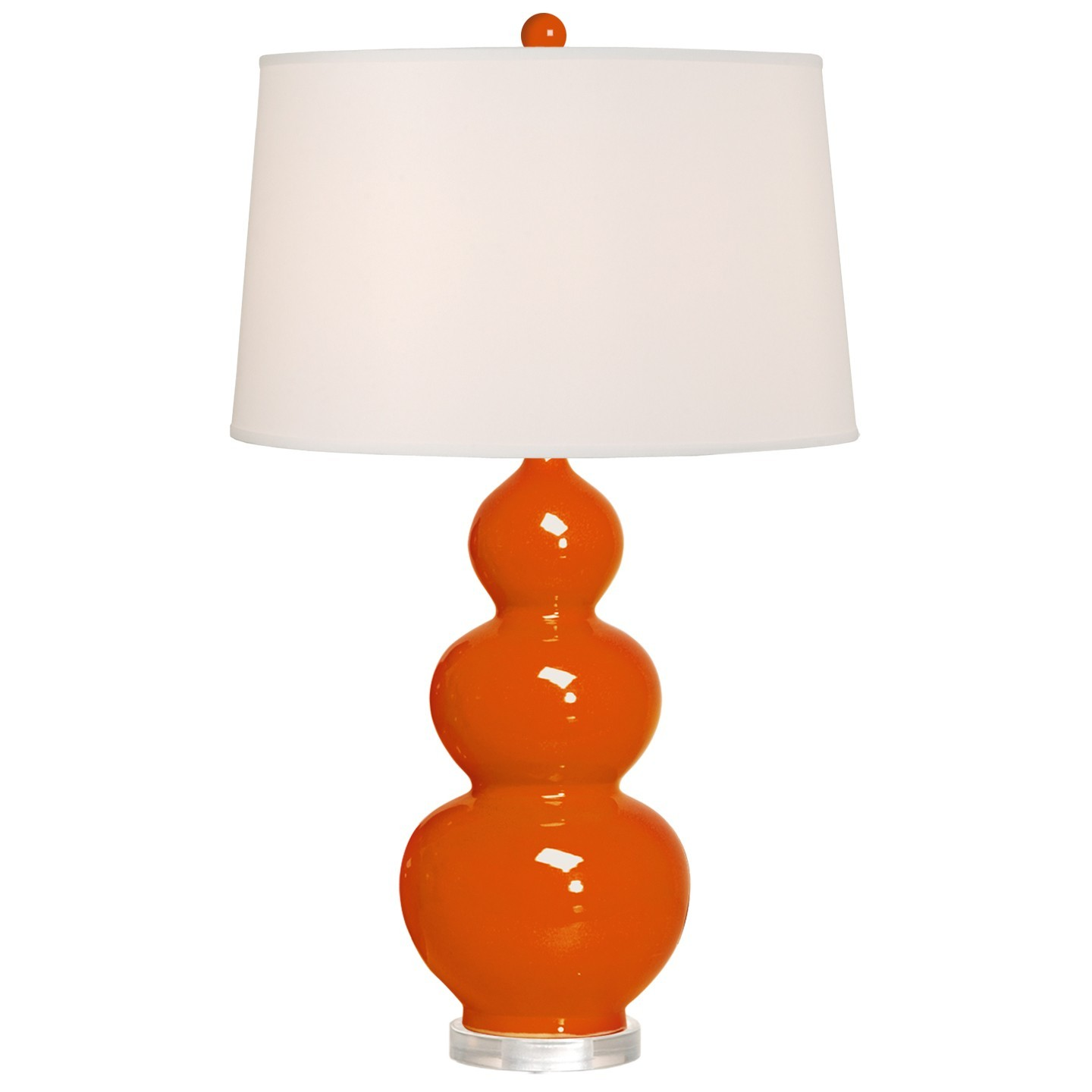 triple_gourd_vase_lamp_in_red_white_shade