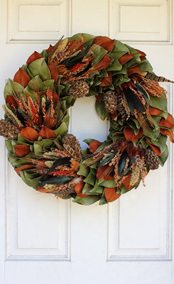 Quick Ship Fresh Thanksgiving Wreaths!  Order Now!