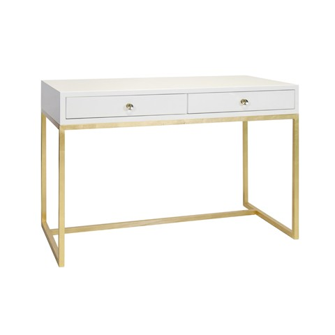 white_lacquer_desk_on_gold_leaf_base