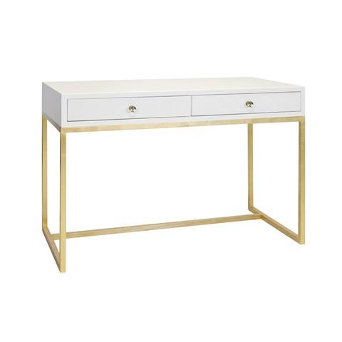 white_lacquer_desk_on_gold_leaf_base