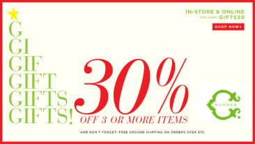 More Black Friday Coupons:  C. Wonder, ModCloth, Berdgorf Goodman, Neiman Marcus, Bloomingdales, Stila, Ghurka and Kate Spade